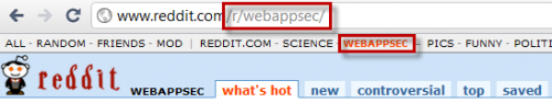 I Just Created the/r/webappsec Subreddit