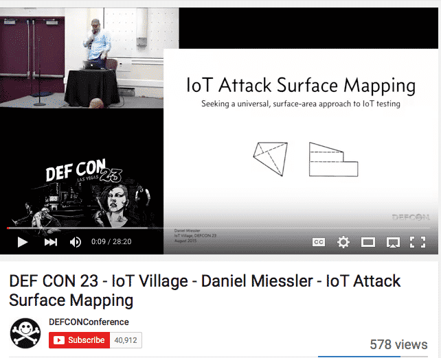 , My IoT Attack Surfaces Talk at DEFCON 23