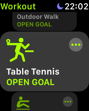 , How to Record a Table Tennis Workout Using the Apple Watch