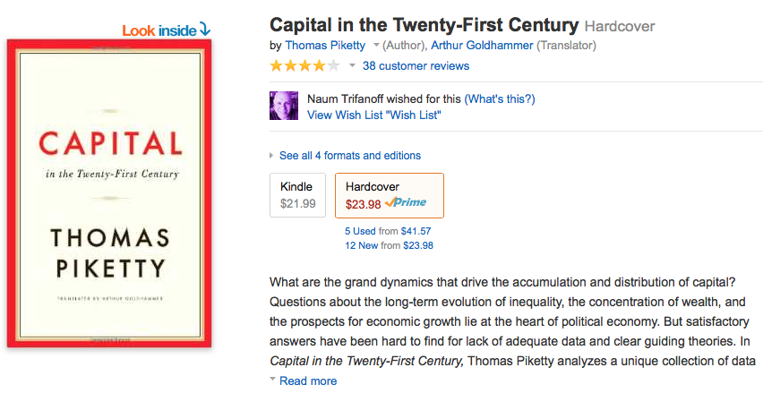 Book: Capital in the Twenty-First Century