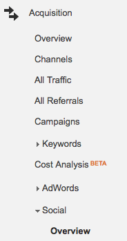 List all Social Shares of Your Website Using Google Analytics