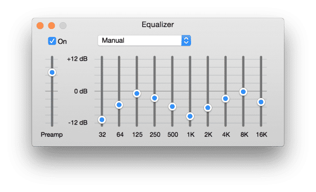 Multitrack routing and EQ controls