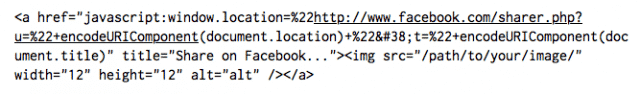 , Implement a Facebook Share Button Using a Single Line of Javascript