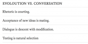 Reading and Conversation as Idea Evolution