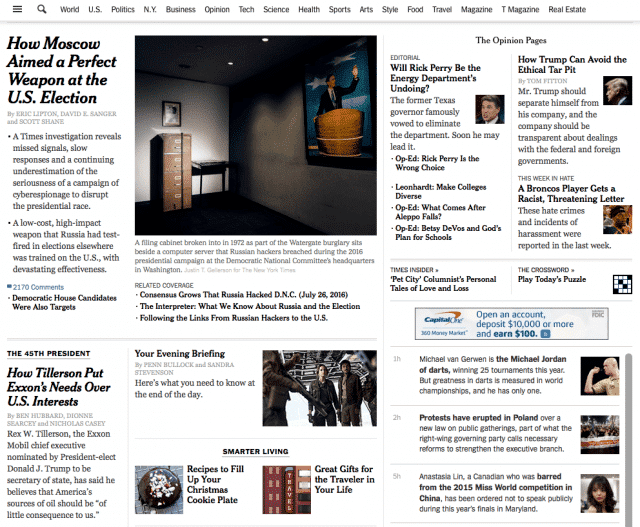 , Standardizing on New York Times for Core News Input