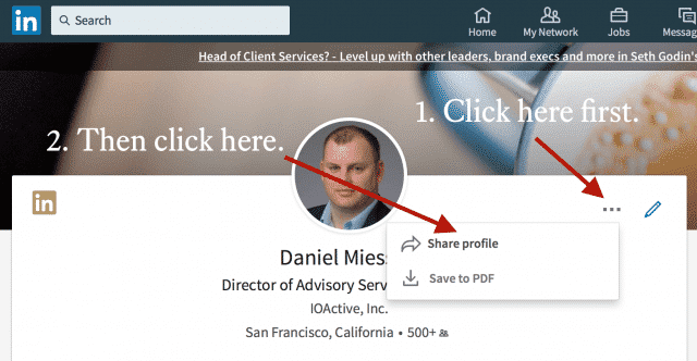 How to Download Your LinkedIn Profile as a Resume Daniel Miessler