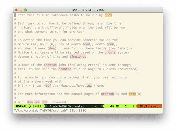 , How to Edit Your Crontab Using Vim
