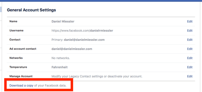 , How to Download the Data Facebook Has on You