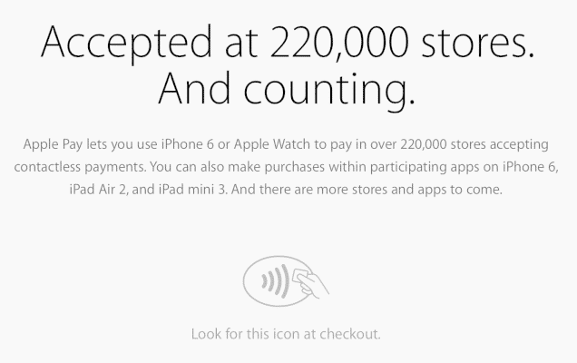 apple pay, Places That Accept Apple Pay