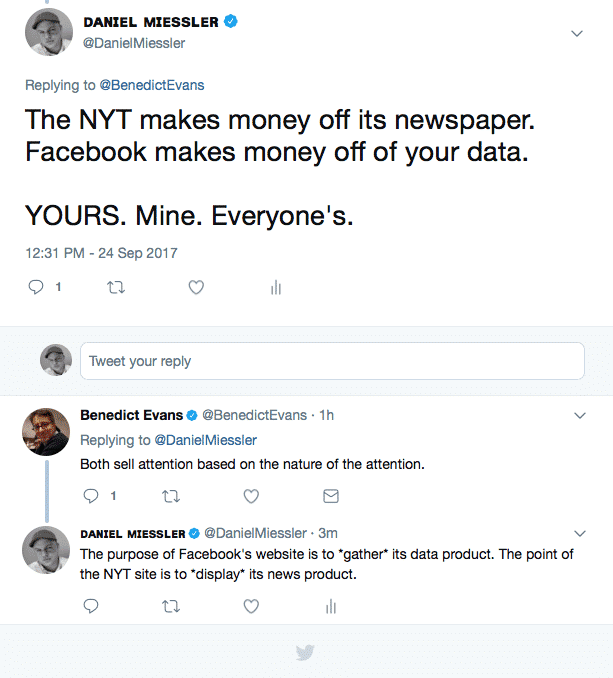 , With Facebook and Google You Are Literally The Product