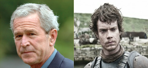 Theon Greyjoy is George Bush