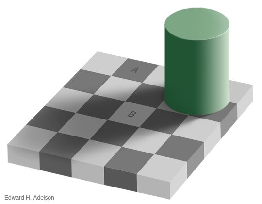 checkerboard Meaning is an Illusion