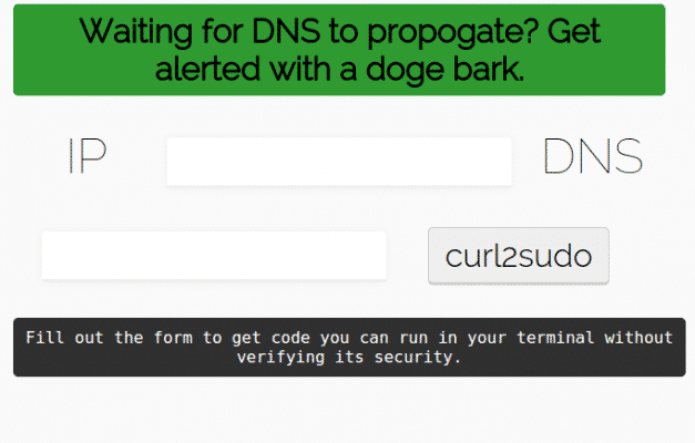 Dogebark DNS Propagation Notification