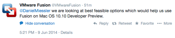 Running Fusion on Yosemite: Update Thread