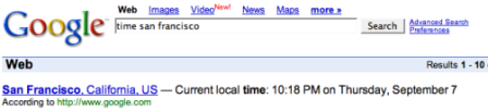 Google Time Quicksearch