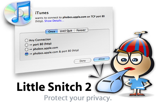 Controlling OS X Network Connections Using Little Snitch