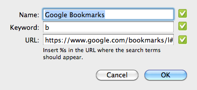 , Searching Google Bookmarks from Chrome's Omnibox