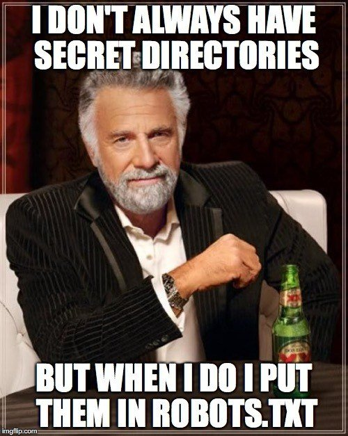 The Most Interesting (Disallowed) Directories in the World