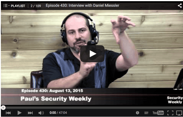 My Appearance on the Security Weekly Podcast