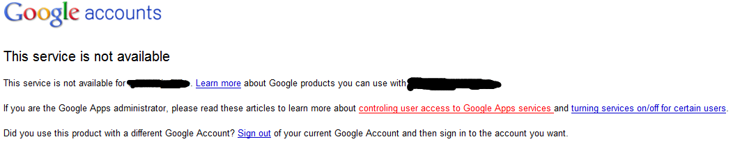 , Another Google Service Mystery