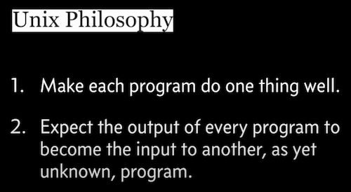 unix philosophy